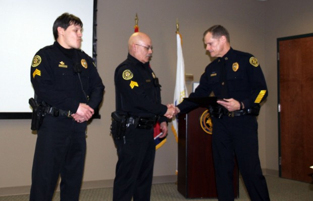 Two CPD Sergeants receive Police Chief's coins