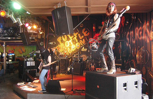 Guns and roses tribute band plays at the full throttle saloon monday
