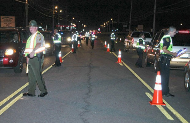 Sobriety checkpoint on 41A Bypass