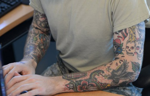 Army: Soldier grandfathered in under tattoo policy