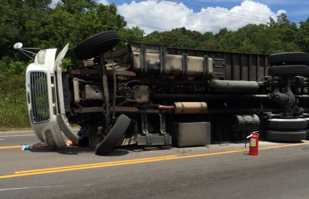 Crash on 41A Bypass involving gasoline truck