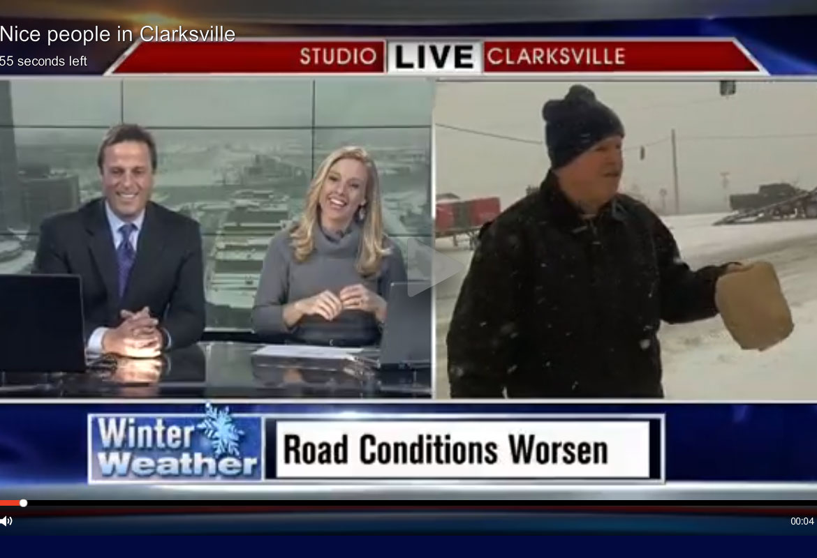 WATCH: Clarksville man offers News 2 reporter chocolate during on ...