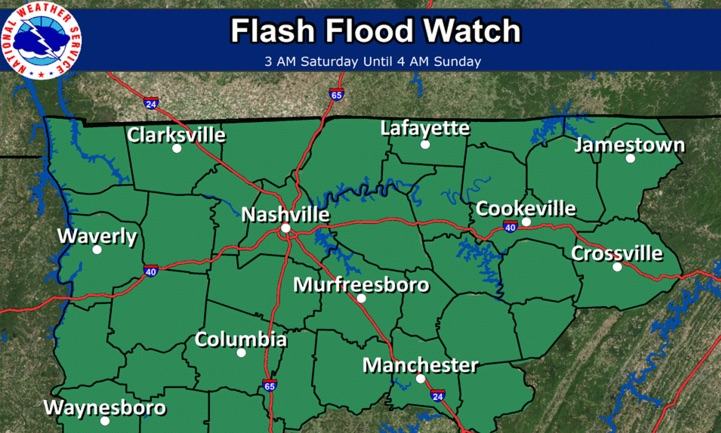 Flood watches prompt caution in the two Virginias