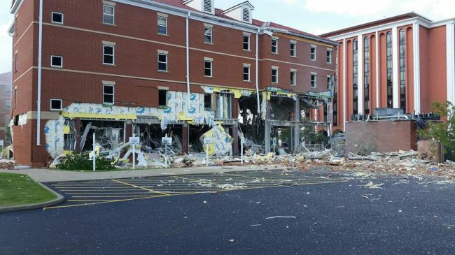 University president thanks people responding to dorm blast