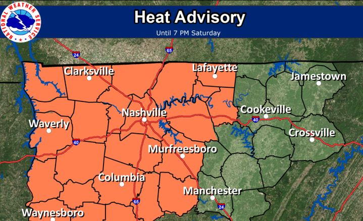Heat Advisory issued for 10 counties