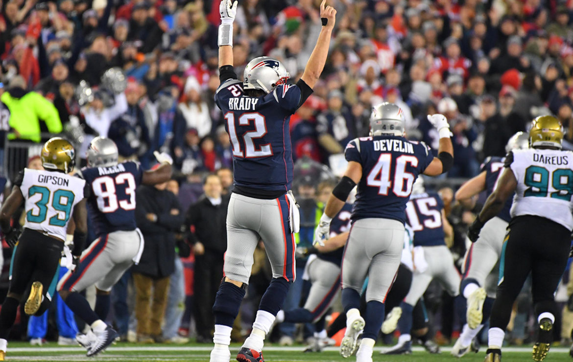 Brady produces stunning fourth-quarter comeback as Patriots reach 10th Super Bowl
