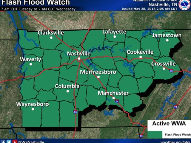 Sumter under flash flood watch for Memorial Day